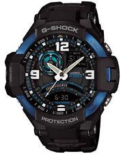 Casio GA1000-2B Men's Gravity Master Twin Sensor Black and Blue G Shock Watch