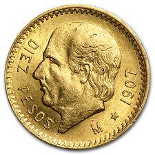 1907 Mexico Gold 10 Pesos AU - SKU #27695