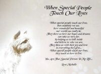 """""""TO SOMEONE SPECIAL"""" - For a friend -  PERSONALISED POEM -  A4  - LAMINATED GIFT"""