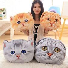 3D Simulation Cat Head Toy Super Soft Cushion Shape Cutton Girls Pillow Stuffed