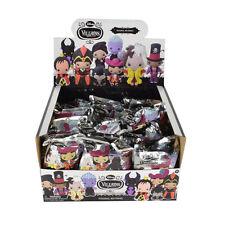 New Full Box 24pcs Walt Disney Villains Blind Bag 3-D Car House Figural Keychain