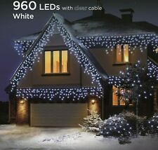 960 LED Snowing Icicles - Premier Christmas Lights LV081175W
