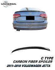 Carbon Fiber Trunk Spoiler Lip For 2011-2018 VW Volkswagen Jetta Sedan Type C