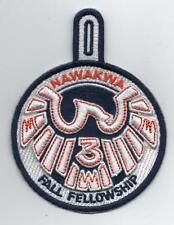 OA Nawakwa Lodge 3 Activity Patch, 2012 Fall Fellowship (eR2012-4)