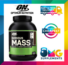 Optimum Nutrition Serious Mass 6lbs Gainer Protein Weight Bulking Whey WPC