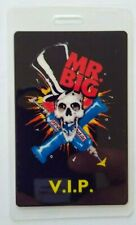 Mr Big Lean Into It VIP Backstage Pass Original 1991 Hard Rock Music Skull Drill