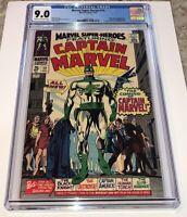 Marvel Super-Heroes #12 ~ Origin & 1st Appearance Captain Marvel 1967 ~ CGC 9.0