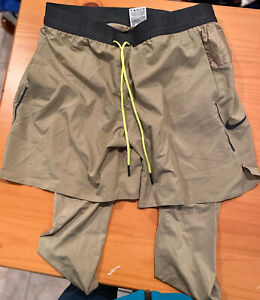 Nike Running Tech Pack 2 in 1 Shorts [BV5687-247] Size: XL new tags gold/tan
