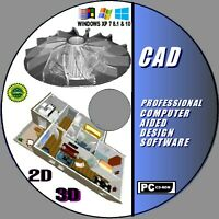 2019 2D/3D MODELING PROFESSIONAL CAD COMPUTER AIDED DESIGN MULTI FILE SUPPORT