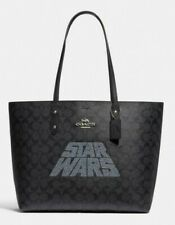 Star Wars X Coach Signature Black Leather Town Tote Purse F88019
