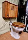 antique ornate embossed   toilet restored, wall mounted John Douglas