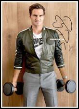 Roger Federer, Autographed, Cotton Canvas Image. Limited Edition (RF-503)