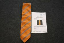 Krawatte, getragen und persönlich signiert von Frank-Walter Steinmeier