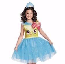 Shopkins Cupcake Queen Costume Youth Girls Small + Crown Tulle Dress Up New