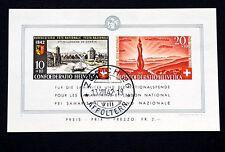 """SCHWEIZ Block 7 """"Pro-Patria"""" 1942 sauber gestempelt volle Gummierung 300 EURO"""