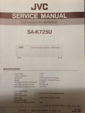 JVC Original service manual for SA-K725U Duplication verifier