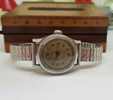 RARE 1940'S WW II IMPERIAL MILITARY SILVER DIAL MAN'S WATCH