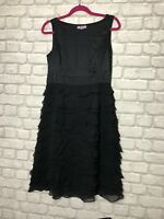 MONSOON LADIES 100% BLACK SILK DRESS  SPECIAL OCCASION  PARTY SIZE 12