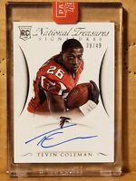 Tevin Coleman 2015 National Treasures Rookie Autograph #39/49 Falcons RB