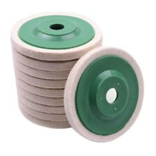 1X(10Pcs 100Mm 4 Inch Wool Buffing Round Polishing Wheels Pads Polisher Whe 8J8)