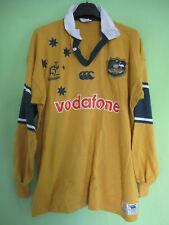 Maillot Rugby Australie WALLABIES Vodafone Jersey Canterbury coton vintage - XL