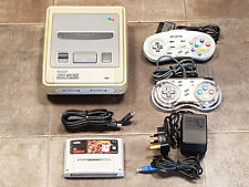 Refurbished Nintendo Super NES SNES Console, 2 Controllers, Leads & Game Bundle