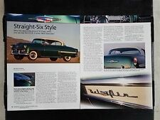 1953 Chrysler Straight-Six  - 4 Page Article - Free Shipping