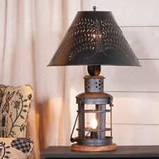 Innkeeper's Table Lamp with Punched Willow Shade