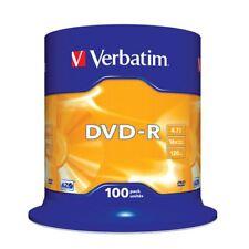"""DVD-R 16x Verbatim """"Matt Silver Azo"""" Tarrina 100 uds"""