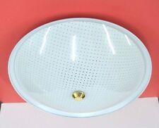 "1965 NEW VINTAGE White CEILING Round BEDROOM 2-Light Fixture 12"" Puritan 160 NOS"