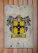 MORGAN armoiries A4 âgés de rétro métal 10x8 Signe Aluminium armoiries