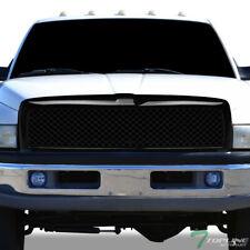 Topline For 1994-2002 Dodge Ram Mesh Front Hood Bumper Grill Grille - Glossy Blk