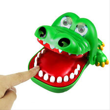 Lovely Large Mouth Crocodile Dentist Bite Finger Game Funny Toy Kids Biting Hand
