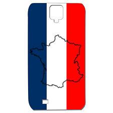 Coque 3D Téléphone - SAMSUNG GALAXY S4 - Carte de la France Bleu Blanc Rouge