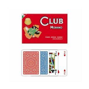 Set 2 mazzi Carte da Gioco Poker, Bridge e Ramino Modiano, 3+