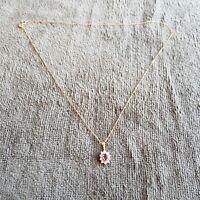 9ct Gold Diamond ? Pendant and Chain