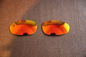 PolarLens POLARIZED Fire Red Iridium Replacement Lens for-Oakley Juliet