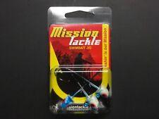 Mission Tackle,Swimbait Jig, 3/pk, 1/4oz, Glow Blue,MT-SBJ14-GB