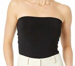 $99 Susana Monaco Women's Black Solid Core Strapless Pull-On Tube Top Size M