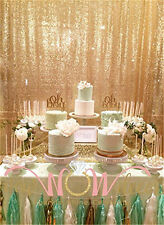 4FT*9FT Gold Sequin Backdrop Home Wedding Photo Booth Sparkly Background Curtain