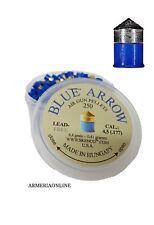 Pallini aria compressa 4 5 piombini per carabina pistola co2 cal4,5 blu skenco