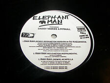 """Elephant Man Rah Rah w/Daddy Yankee & Pitbull 12"""" Single Nm Vp Promo188 2005"""