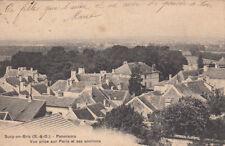 SUCY-EN-BRIE panorama vue prise sur paris et ses environs timbrée