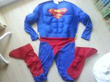 Rubies #888016 DLX.MUSCLE CHEST SUPERMAN Fasching-Kostüm-Overall-Jumpsuit M nw.