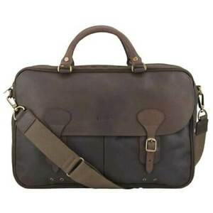 Barbour Wax And Leather Briefcase Olive Bag Messenger One Size