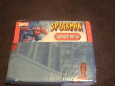 Twin Dust Ruffle bed skirt 2006 Marvel Spiderman New Made in Pakistan Rn# 18389
