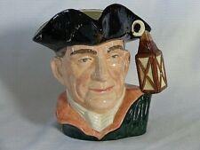 Royal Doulton Character Jug Large Toby ~ Williamsburg Night Watchman ~ D6569
