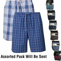 Mens M&S Collection 2 Pack Pure Cotton Checked Shorts Lounge Pyjama PJ's Pants