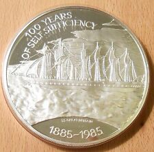 1985 FALKLAND ISLANDS 5 OZ SILVER PROOF SELF SUFFICIENCY