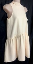 Elizabeth And James Dress Sleeveless Pale Peach Tie Neck  Size XS